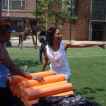 Getting ready for the event - Breathe Brownsville Brooklyn Yoga Festival