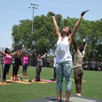Taking in the glorious sun again - Breathe Brownsville Brooklyn Yoga Festival