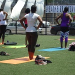 It's showtime, yoga session begins - Breathe Brownsville Brooklyn Yoga Festival