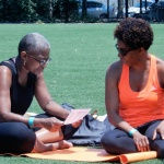 Yogis check out swag bag - Breathe Brownsville Brooklyn Yoga Festival