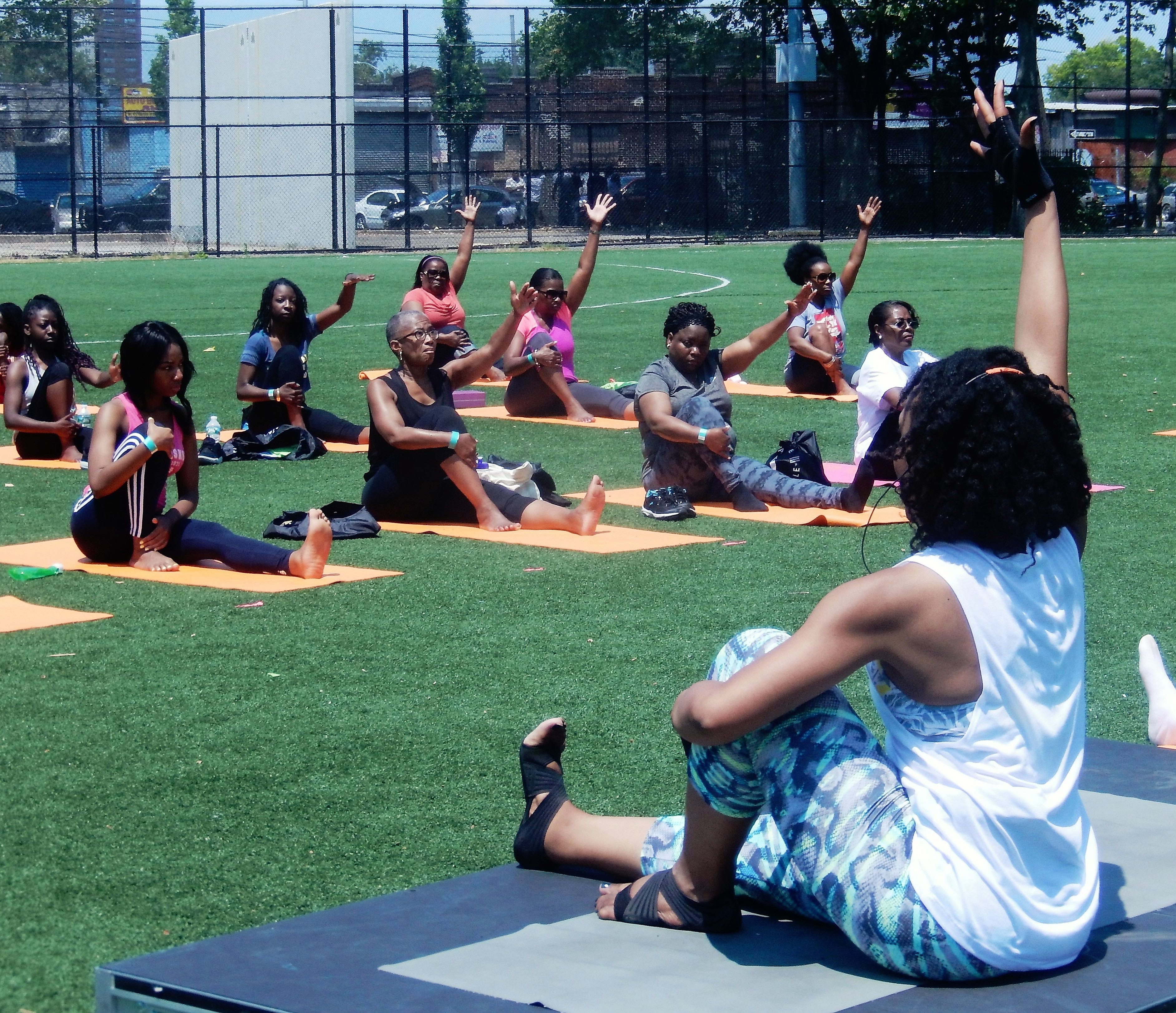 The cool down starts - Breathe Brownsville Brooklyn Yoga Festival