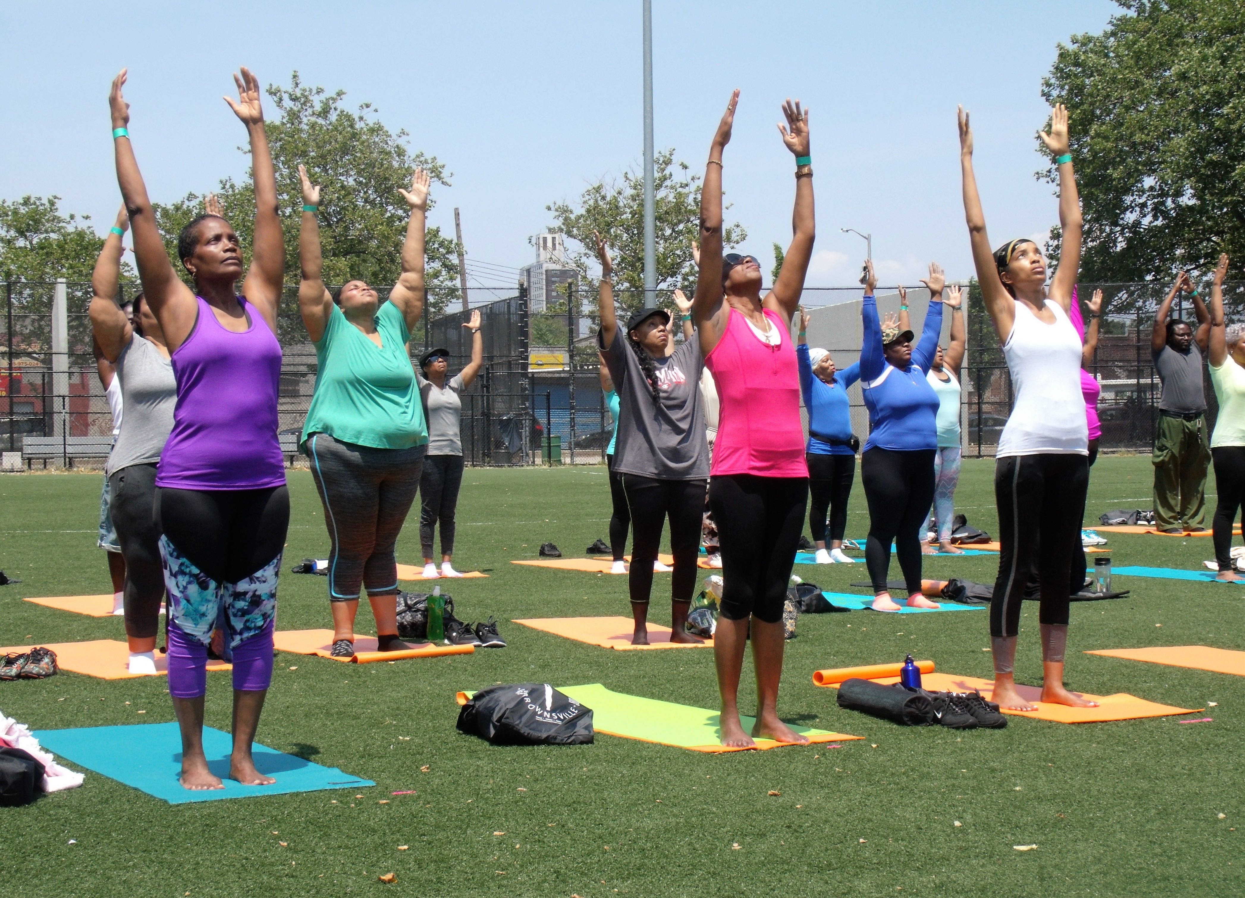 Upward Salute Pose - Breathe Brownsville Brooklyn Yoga Festival