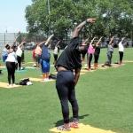 Nice deep side stretch - Breathe Brownsville Brooklyn Yoga Festival