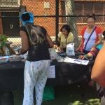 Brookdale Hospital blood pressure screening table - Breathe-Brownsville-Yoga-Festival