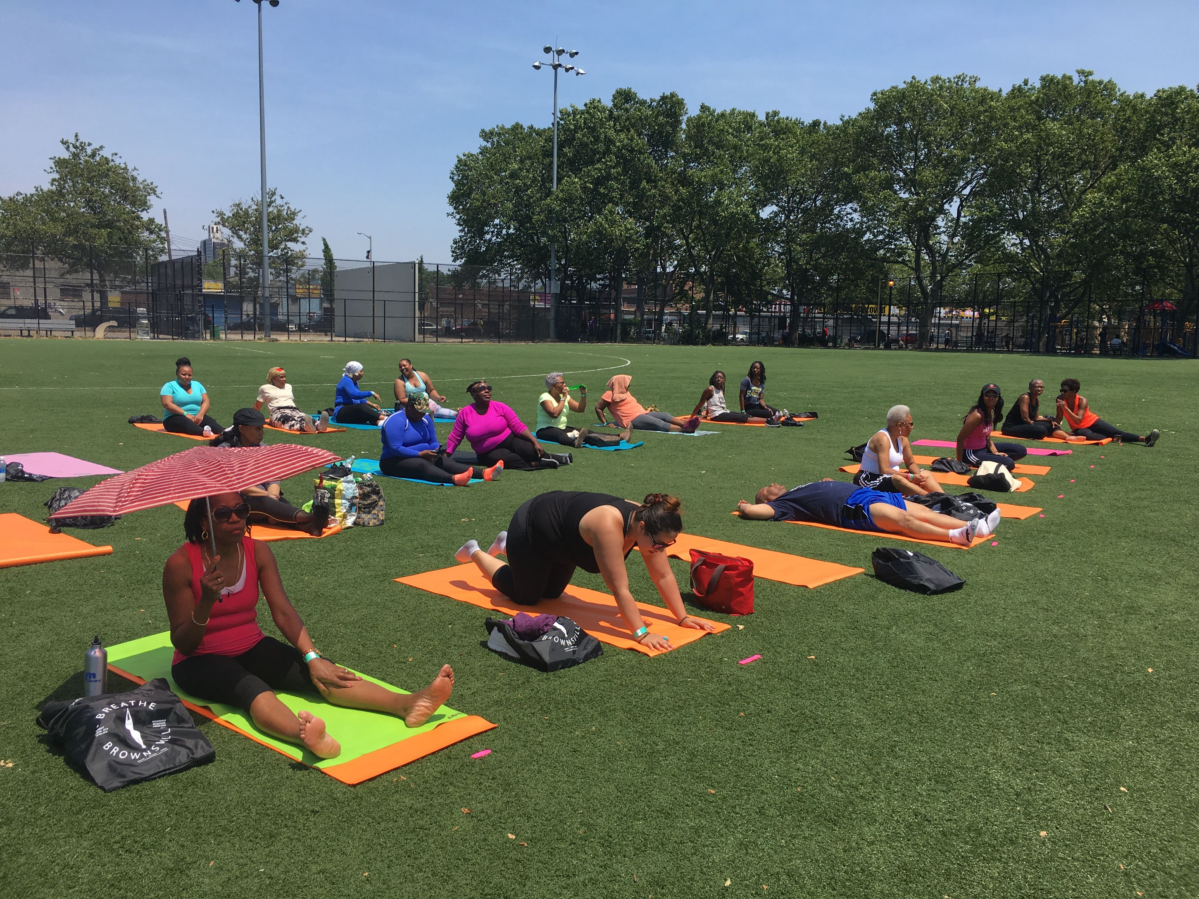 A little fun in the sun prior to event - Breathe Brownsville Brooklyn Yoga Festival