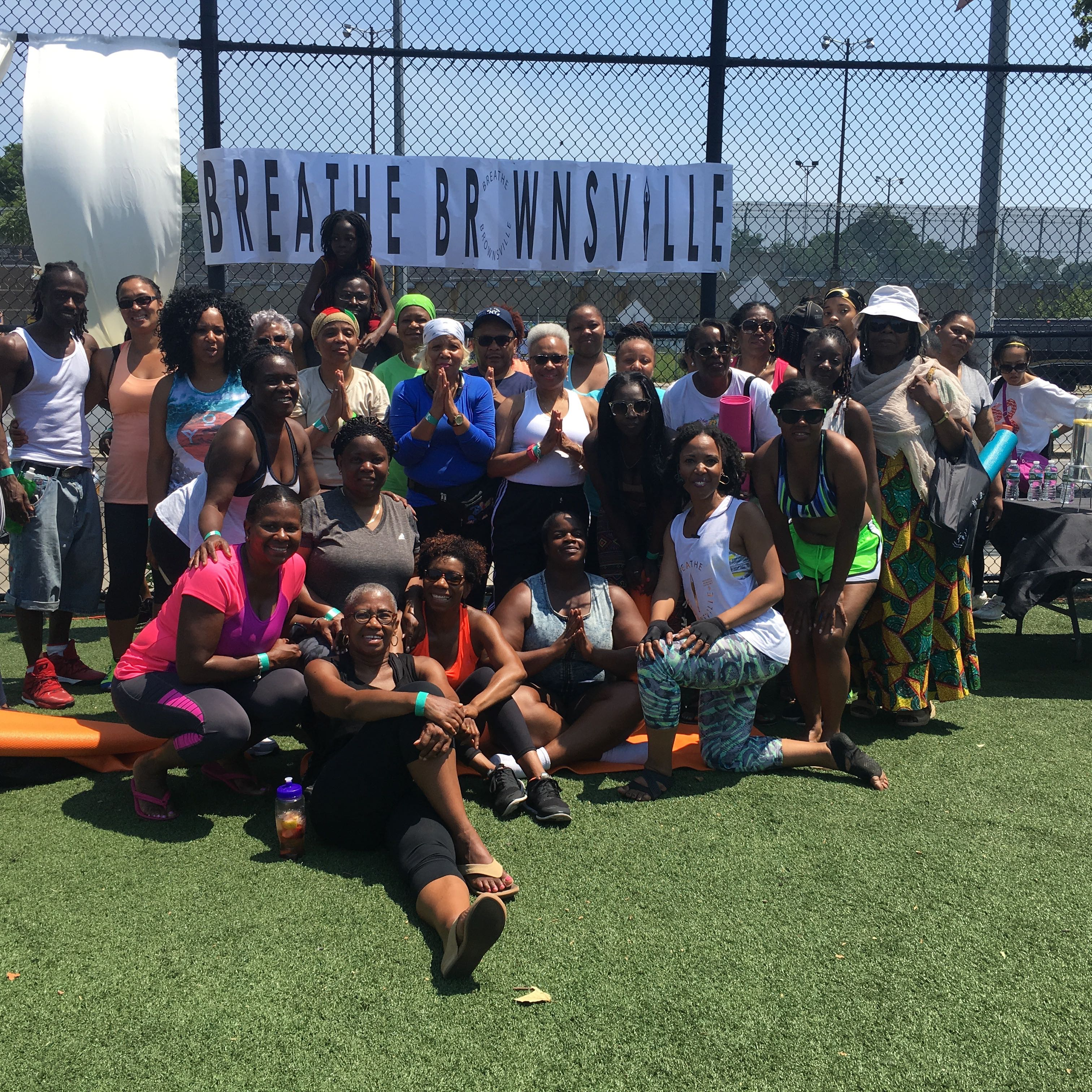 Group pic # 2 - Breathe Brownsville Brooklyn Yoga Festival