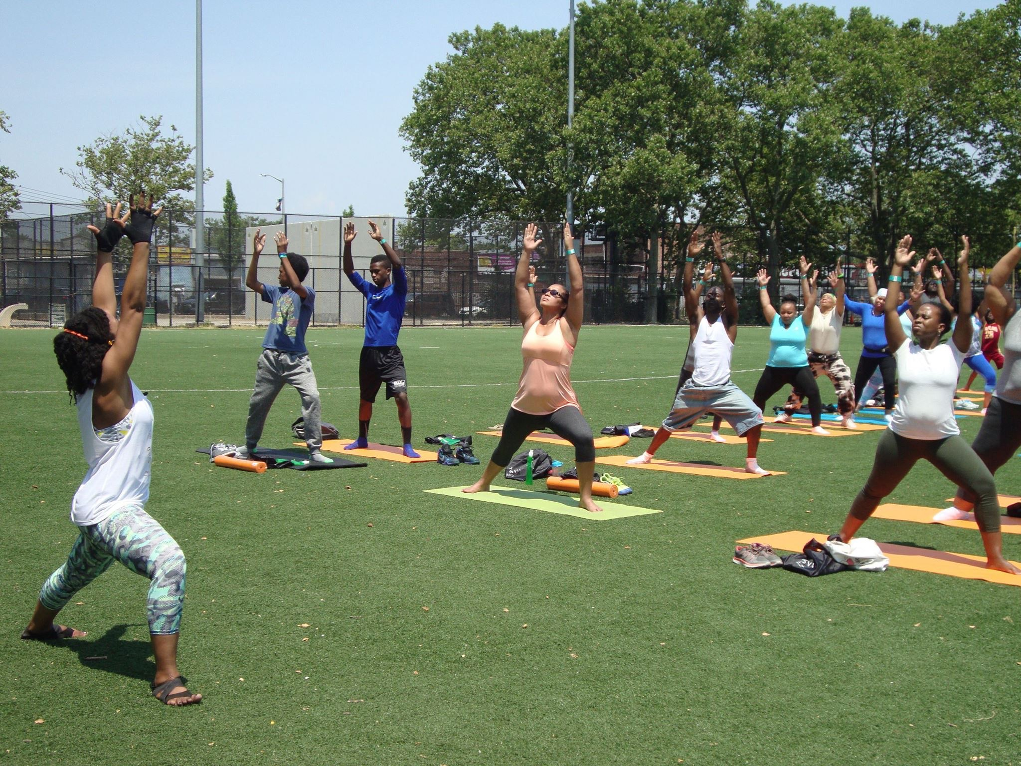 Things are looking up and feeling powerful - Breathe Brownsville Brooklyn Yoga Festival